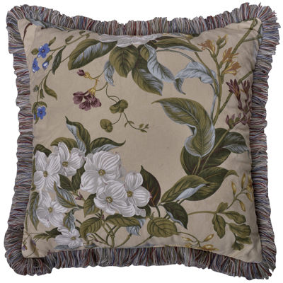 Williamsburg Garden Images Square Decorative Pillow