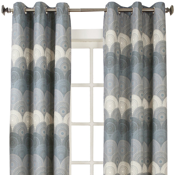 Sun Zero™ Veda Thermal Lined Grommet-Top Curtain Panel
