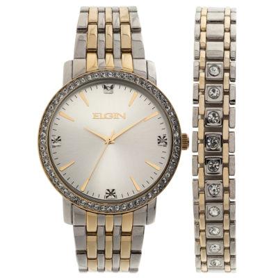 Elgin Mens Two Tone Bracelet Watch-Fg160015ttst