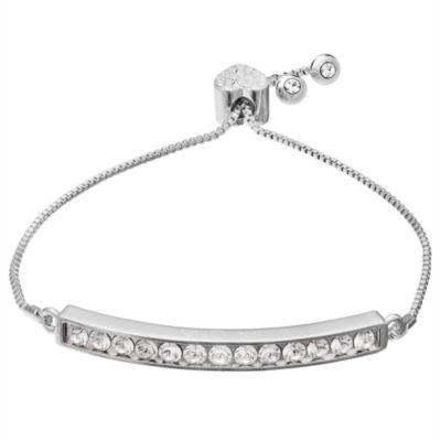 Sparkle Allure Womens White Stretch Bracelet