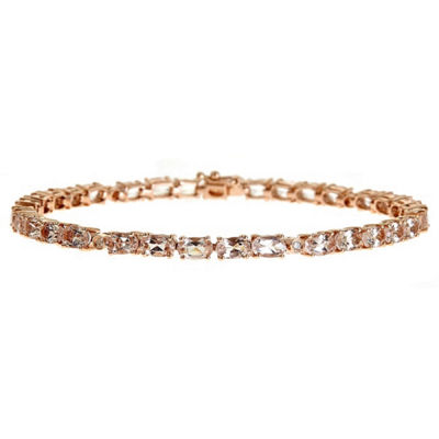 Diamond Accent Pink 10K Gold Tennis Bracelet