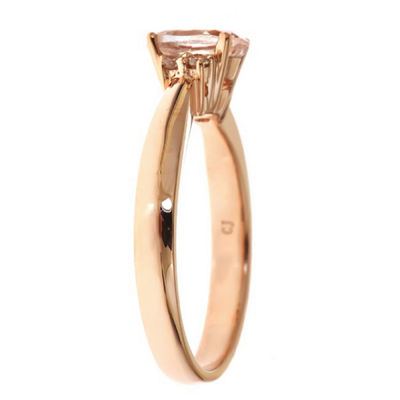 LIMITED QUANTITIES! Diamond Accent Pink 14K Gold Cocktail Ring