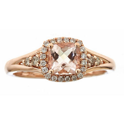 LIMITED QUANTITIES! 1/5 CT. T.W. Pink 14K Gold Cocktail Ring
