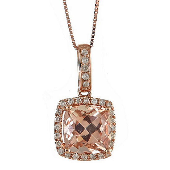 Limited Quantities 1 6 Ct Tw Pink Morganite 14k Gold Pendant Necklace