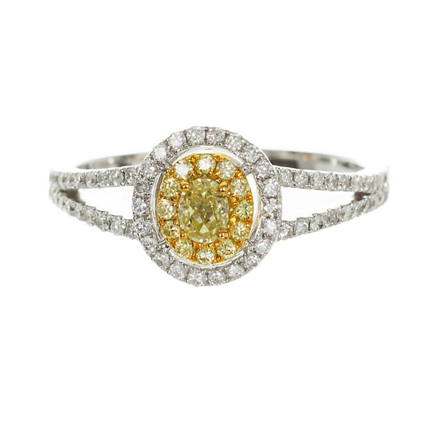 Womens 3/8 CT. T.W. Genuine Pear Yellow Diamond 14K Gold Engagement Ring