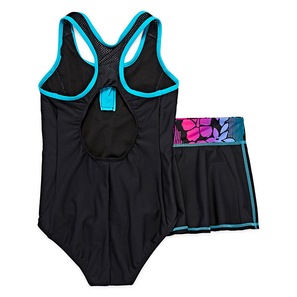 Zero Xposure Girls One Piece+Cover-Ups-Plus-Big Kid