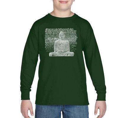 Los Angeles Pop Art 50 Popular Zen Inspirational Quotes Graphic T-Shirt-Big Kid Boys