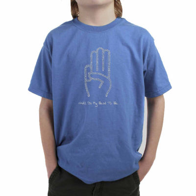 Los Angeles Pop Art The Words Of The Girl Scout Law Graphic Boys T-Shirt