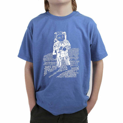 Los Angeles Pop Art Those That Walked Moon And Moon Missions Graphic T-Shirt-Big Kid Boys