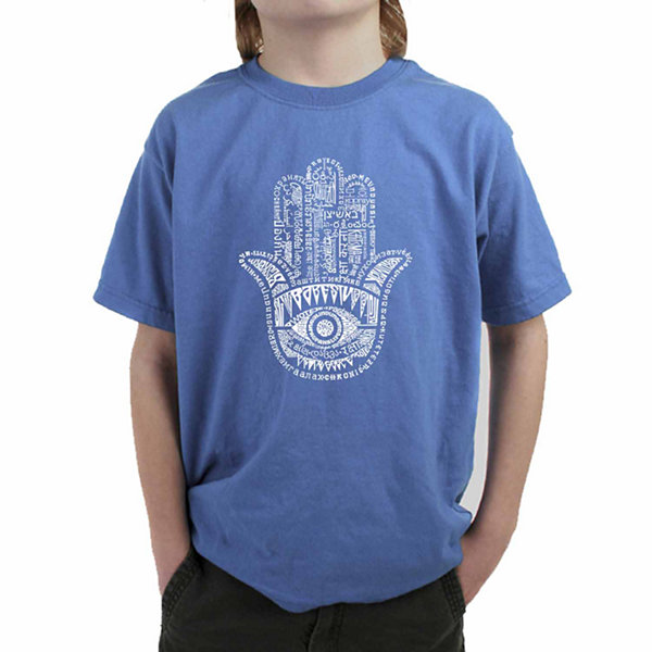 Los Angeles Pop Art Word Protect In Different Languages Graphic Boys T-Shirt