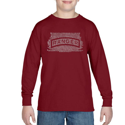 Los Angeles Pop Art The Ranger Creed Long Sleeve Boys Word Art T-Shirt