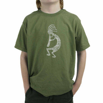 Los Angeles Pop Art The Word Kokopelli Boys Crew Neck Graphic T-Shirt-Big Kid