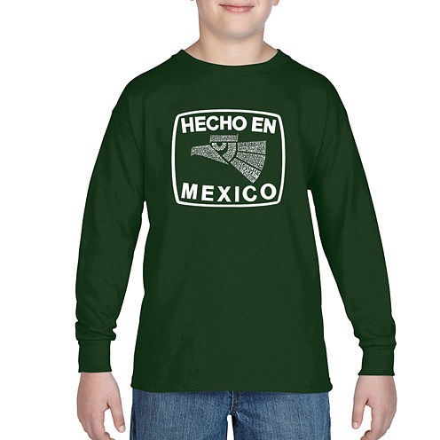 Los Angeles Pop Art All The States In Mexico Graphic T-Shirt-Big Kid Boys