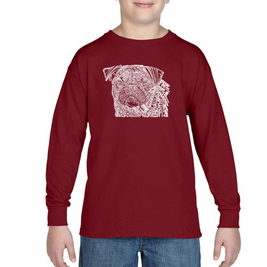 Los Angeles Pop Art The Word Pug Graphic T-Shirt-Big Kid Boys