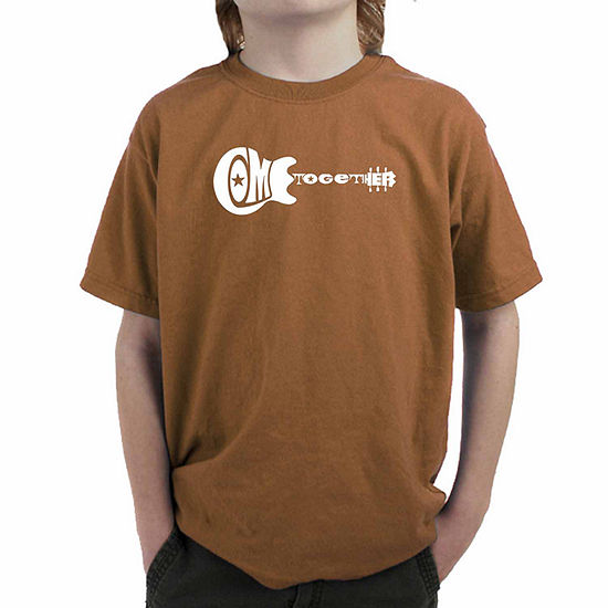 Los Angeles Pop Art Come Together Boys Crew Neck Short Sleeve Graphic T-Shirt Big Kid