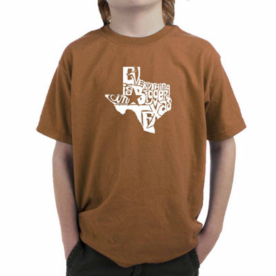 Los Angeles Pop Art Everything Is Bigger In Texas Graphic T-Shirt-Big Kid Boys
