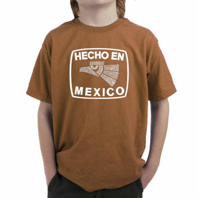 Los Angeles Pop Art All The States In Mexico Graphic Boys T-Shirt