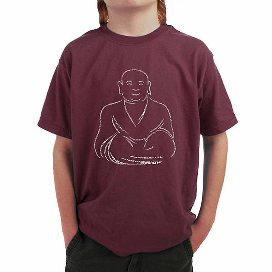 Los Angeles Pop Art Popular Types Of Positive Wishes Boys Crew Neck Short Sleeve Graphic T Shirt Big Kid