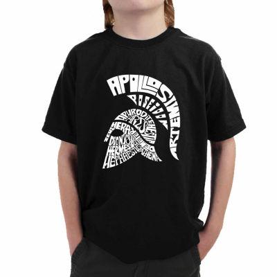 Los Angeles Pop Art Main 14 Greek Gods And Olympian Deities Graphic T-Shirt-Big Kid Boys