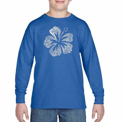 Los Angeles Pop Art The Word Mahalo Graphic T-Shirt-Big Kid Boys