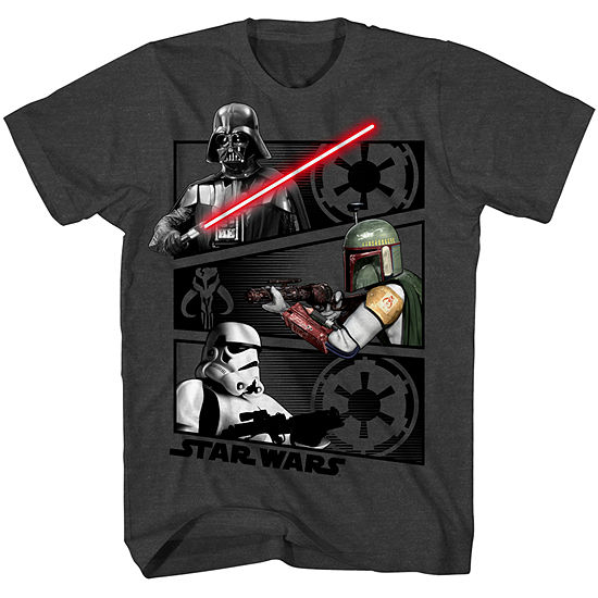 Boys Crew Neck Short Sleeve Star Wars Graphic T-Shirt - Big Kid
