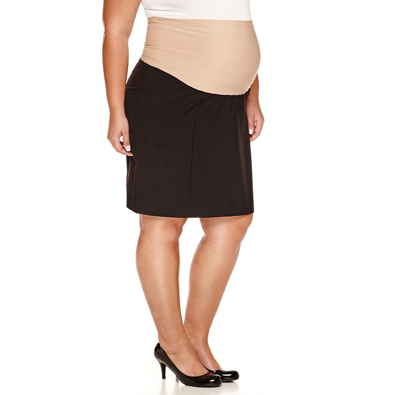 duo™ Maternity Overbelly Pencil Skirt - Plus plus size,  plus size fashion plus size appare