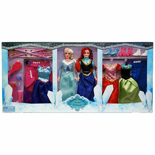 "Harbor Trade 11.5"" Snow Princess 2 Doll Set"""