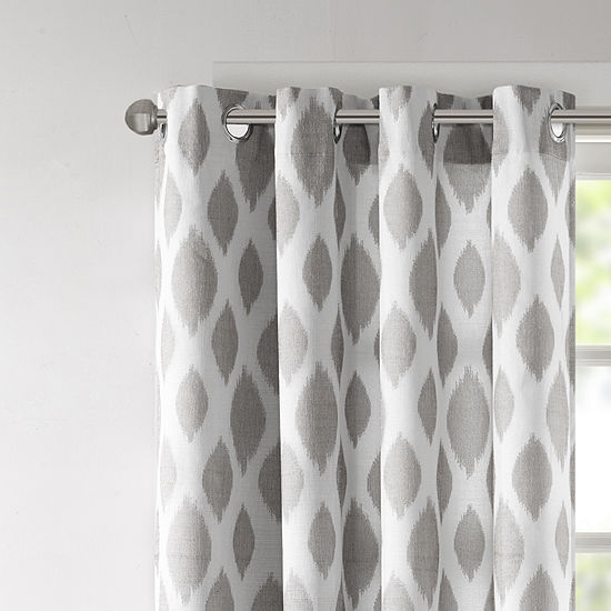 Madison Park Ivy Energy Saving Blackout Grommet-Top Curtain Panel