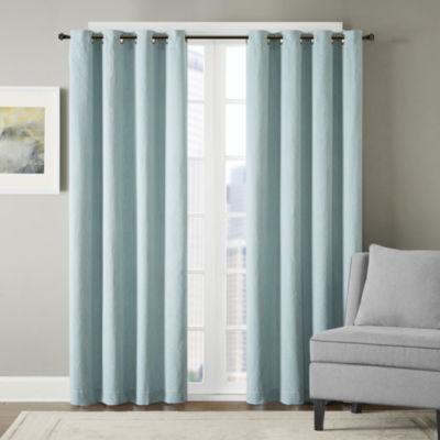 Hayden Chevron Grommet-Top Curtain Panel