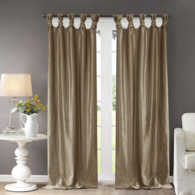 Madison Park Natalie Twisted Tab-Top Lined Curtain Panel
