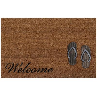 """Better Trends Sandals Doormat - 18""""X28"""""""