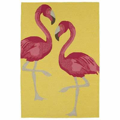 Kaleen Sea Isle Flamingo Hand Tufted Rectangular Rugs