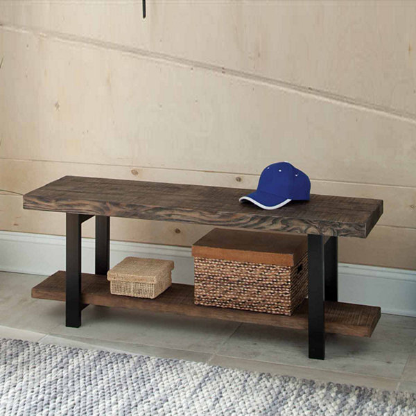 Pomona Metal And Reclaimed Wood Bench