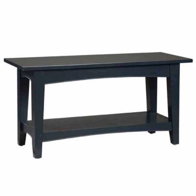Shaker Cottage Bench with Shelf Charcoal