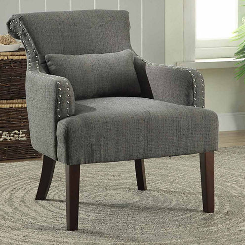 Fabric Track-Arm Chair