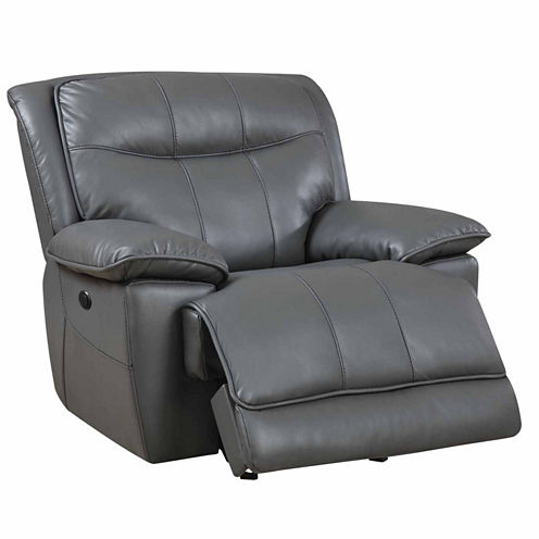 Faux Leather Pad-Arm Recliner
