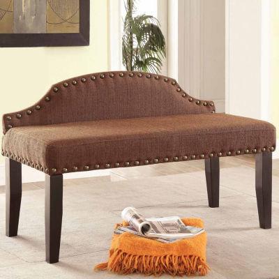Fabric Nailhead Trim Bench