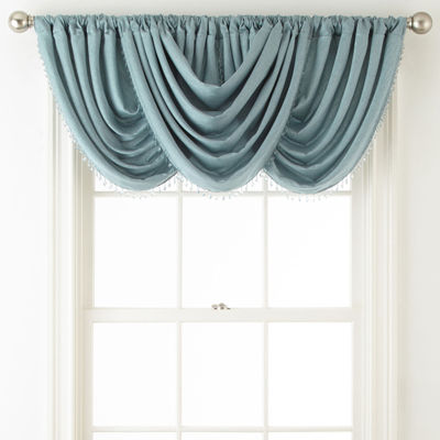 JCPenney Home Westfield Rod-Pocket/Back-Tab Waterfall Valance