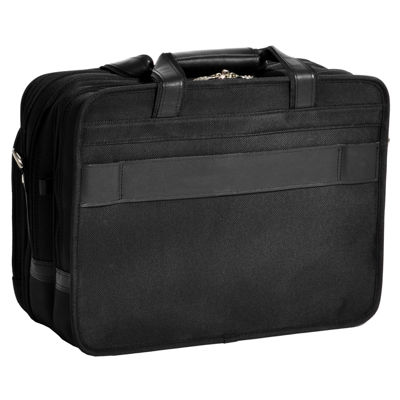 "McKleinUSA Roosevelt 17"" Nylon Detachable -Wheeled Laptop Briefcase w/ Removable Sleeve"