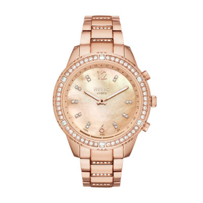 Relic Eliza Womens Rose Goldtone Smart Watch-Zrt1002