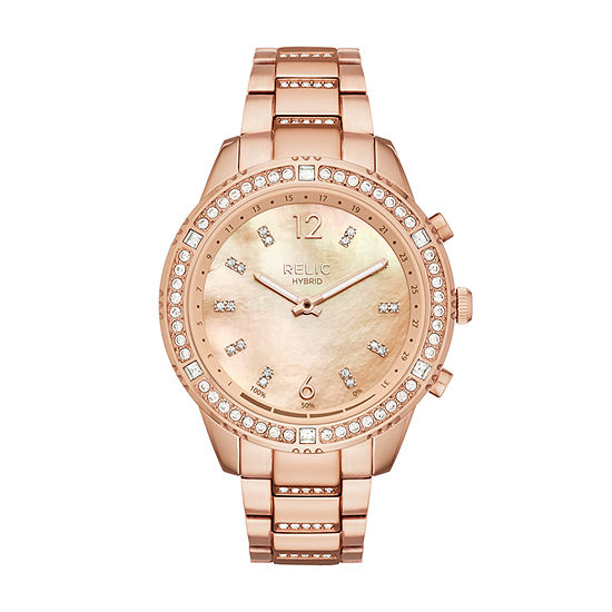 Relic By Fossil Eliza Womens Rose Goldtone Stainless Steel Smart Watch-Zrt1002