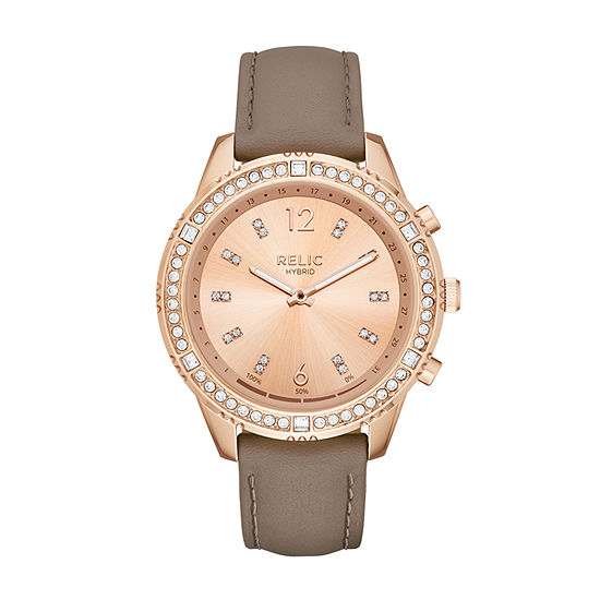 Relic By Fossil Eliza Womens Rose Goldtone Stainless Steel Smart Watch-Zrt1005