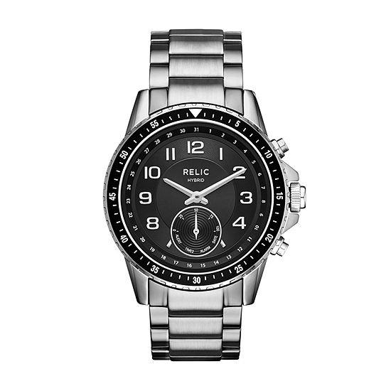 Relic By Fossil Duncan Mens Silver Tone Stainless Steel Smart Watch-Zrt1007