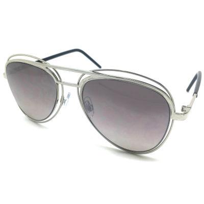 Fantas Eyes Layered Look Full Frame Aviator UV Protection Sunglasses-Womens