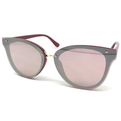 Fantas Eyes Layered Look Full Frame Cat Eye UV Protection Sunglasses-Womens