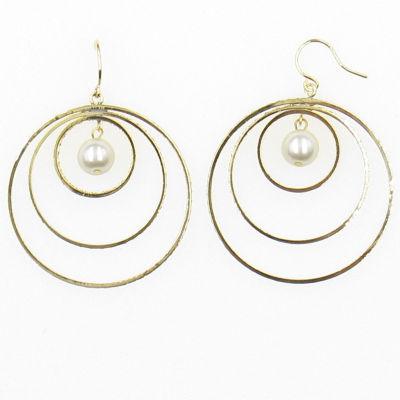 Vieste Rosa 40mm Hoop Earrings