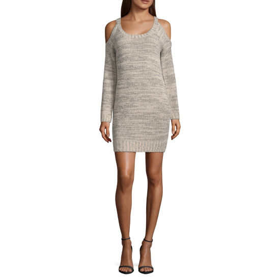 My Michelle Long Sleeve Sweater Dress-Juniors