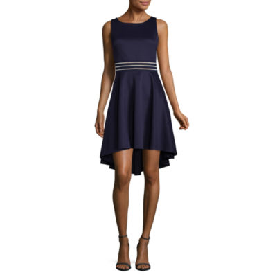 City Triangle Sleeveless Fit & Flare Dress-Juniors