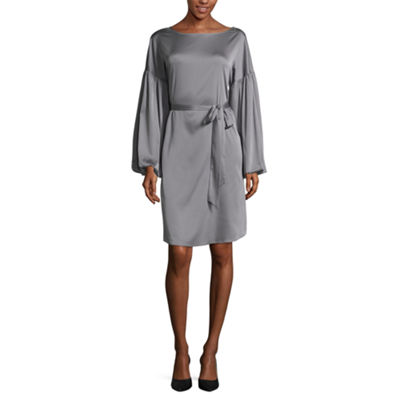 Worthington Balloon Sleeve Tie Front Dress - Tall