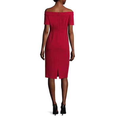 Worthington Short Sleeve Sheath Dress- Tall
